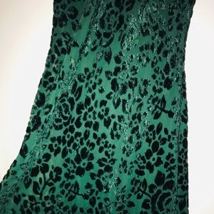 Moda International Dresses - Emerald Green Velvet Maxi Dress